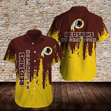 Load image into Gallery viewer, Washington Redskins Button Up Tee Shirt