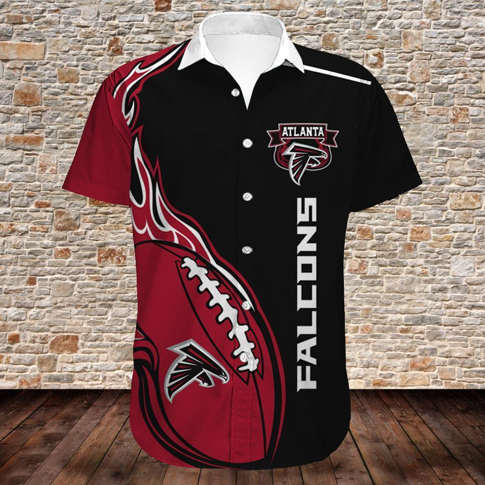 Atlanta Falcons Button Up Tee Shirt