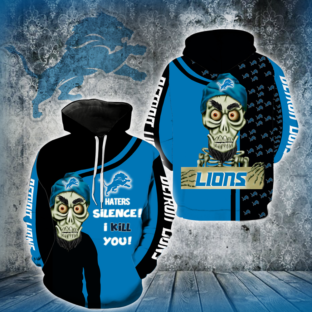 Detroit Lions Achmed Skull  Full All Over Printed Hoodie