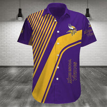 Load image into Gallery viewer, Minnesota Vikings Button Up Tee Shirt