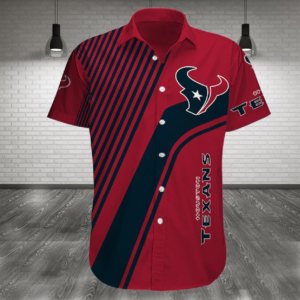 Houston Texans Button Up Tee Shirt