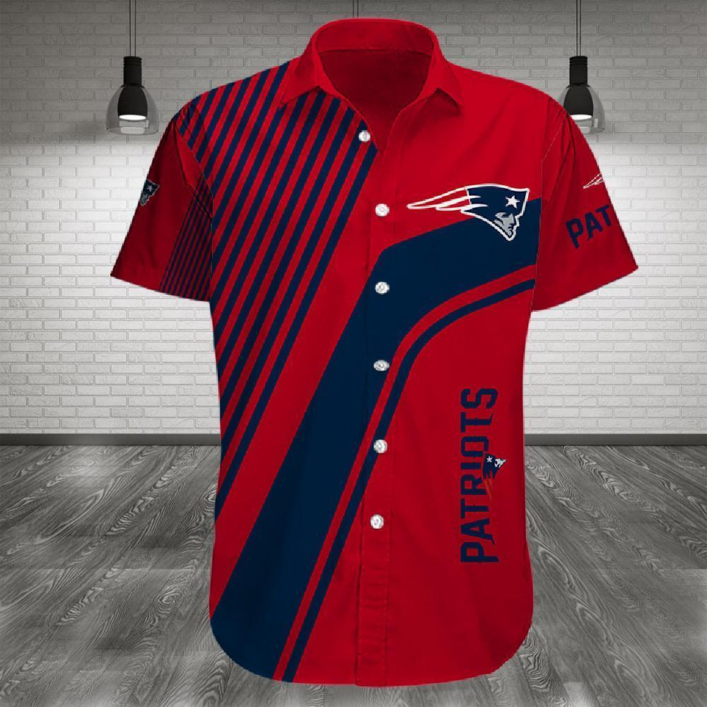 New England Patriots Button Up Tee Shirt
