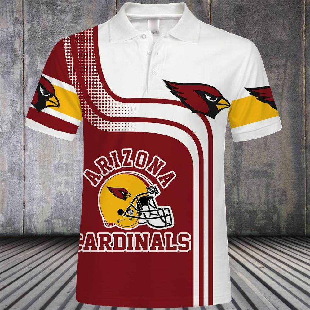 Arizona Cardinals Button Up Polo Shirt