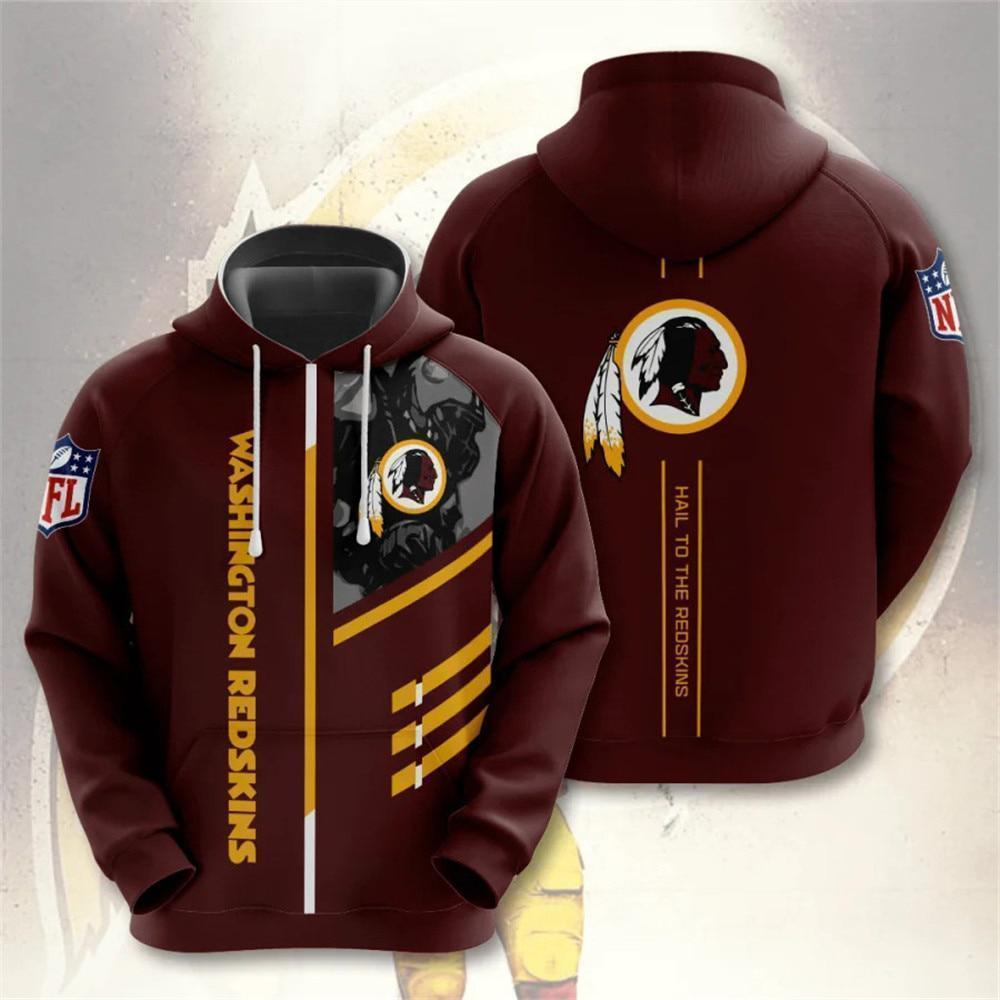Washington Redskins 3D Printed Hooded Pocket Pullover Hoodie