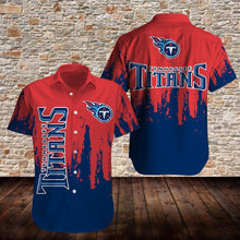 Load image into Gallery viewer, Tennessee Titans Button Up Tee Shirt