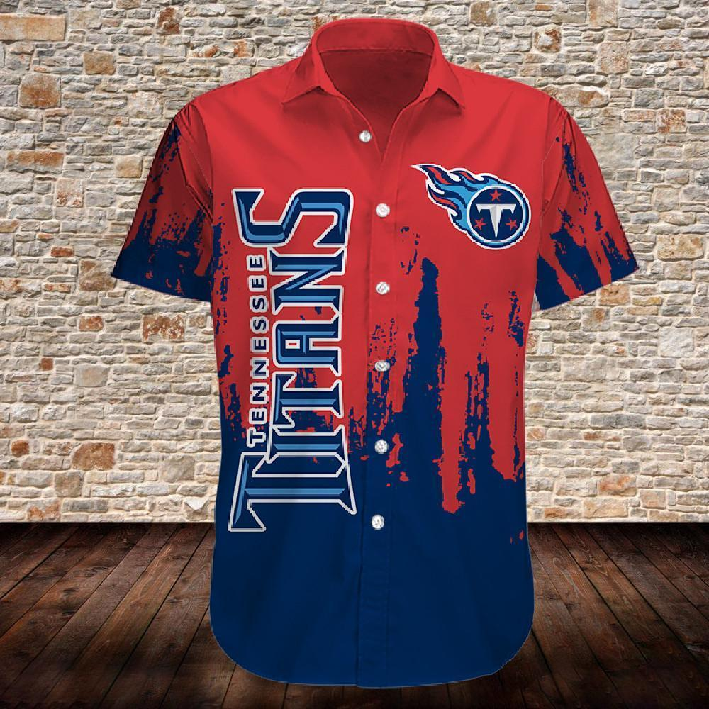 Tennessee Titans Button Up Tee Shirt