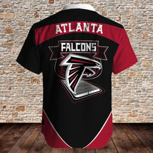 Load image into Gallery viewer, Atlanta Falcons Button Up Tee Shirt