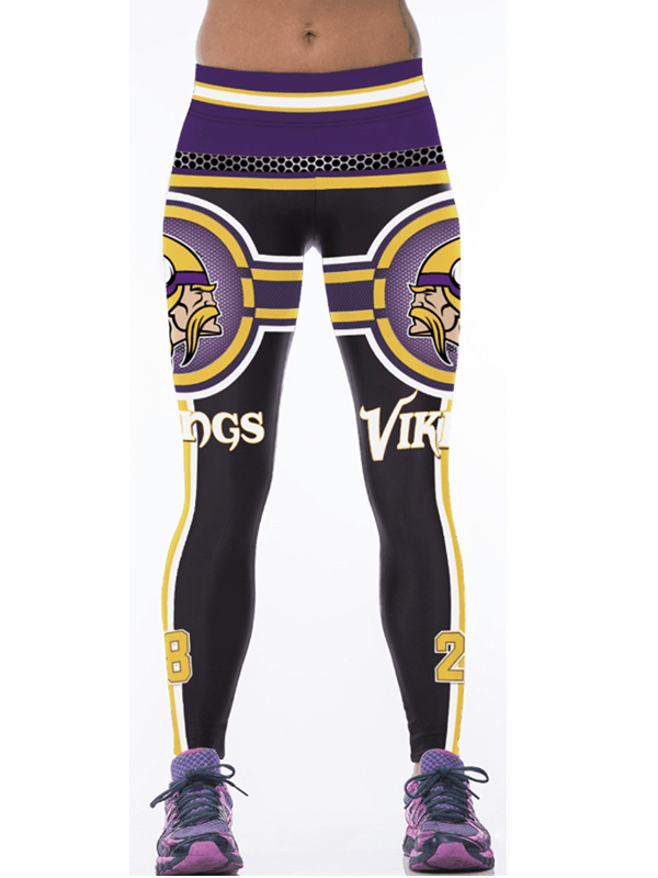 Minnesota Vikings 3D Printed Sports Yoga Pants