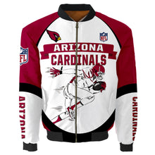 Load image into Gallery viewer, Arizona Cardinals Bomber Jacket Graphic Player Running
