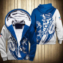 Load image into Gallery viewer, Indianapolis Colts Fleece Jacket Graphic Cartoon Athlete Ball Star