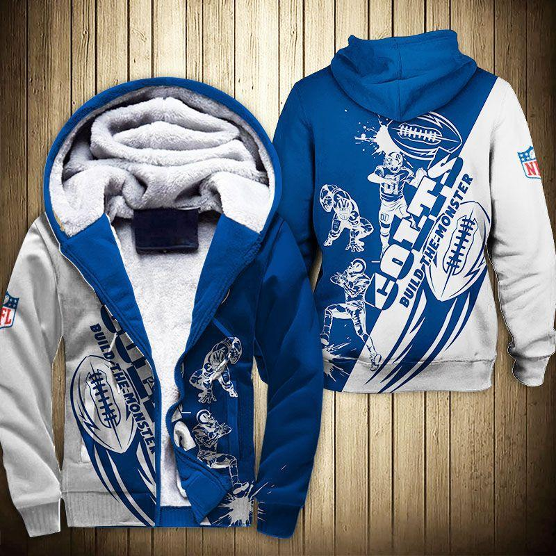 Indianapolis Colts Fleece Jacket Graphic Cartoon Athlete Ball Star