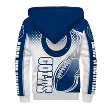 Load image into Gallery viewer, Indianapolis Colts Fleece Jacket Printed Ball Flame 3D