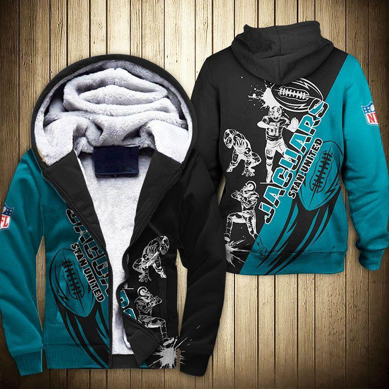 Jacksonville Jaguars Fleece Jacket Graphic Cartoon Athlete Ball Star