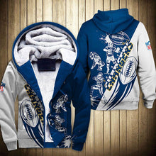 Load image into Gallery viewer, Los Angeles Chargers Fleece Jacket Cartoon Athlete Ball Star