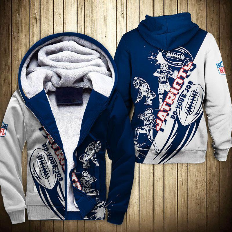 New England Patriots Fleece Jacket Cartoon Athlete Ball Star