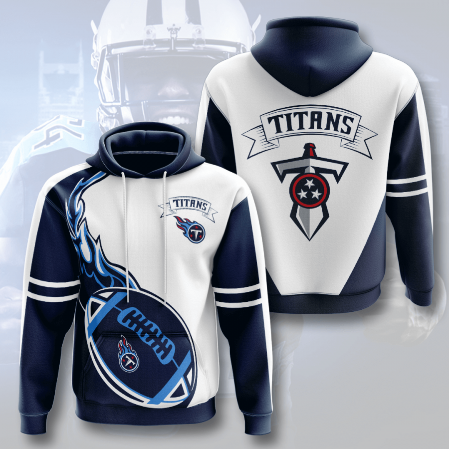 Tennessee Titans 3D Printed Hooded Pocket Pullover Hoodie