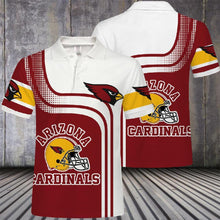 Load image into Gallery viewer, Arizona Cardinals Button Up Polo Shirt