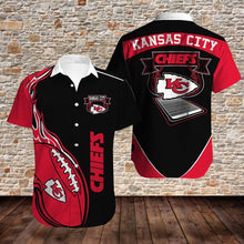 Load image into Gallery viewer, Kansas City Chiefs Button Up Tee Shirt