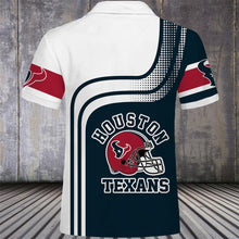 Load image into Gallery viewer, Houston Texans Button Up Polo Shirt