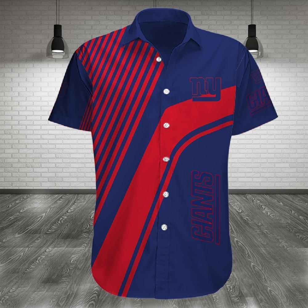 New York Giants Button Up Tee Shirt