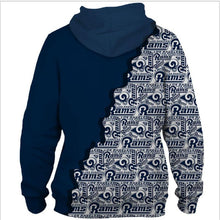 Load image into Gallery viewer, Los Angeles Rams Wavy Twill Warm Hoodie