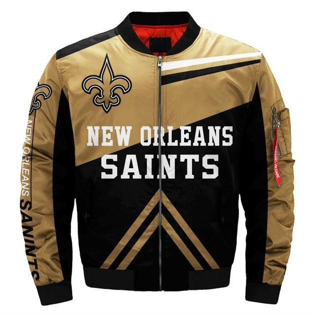 Cheapest Men's Bomber Jacket New Orleans Saints Jacket For Sale