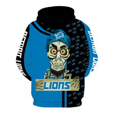 Load image into Gallery viewer, Detroit Lions Achmed Skull  Full All Over Printed Hoodie