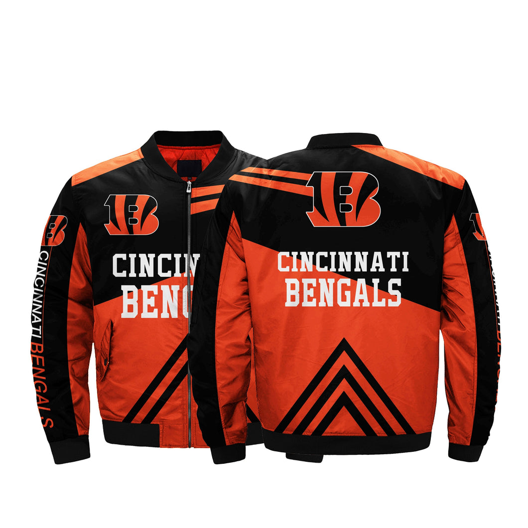 Hot Sale Cincinnati Bengals Jacket Plus Size For Cheap Men Bomber Jackets Coats