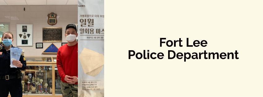 Donating Hygienic Masks - Fort Lee Police Department