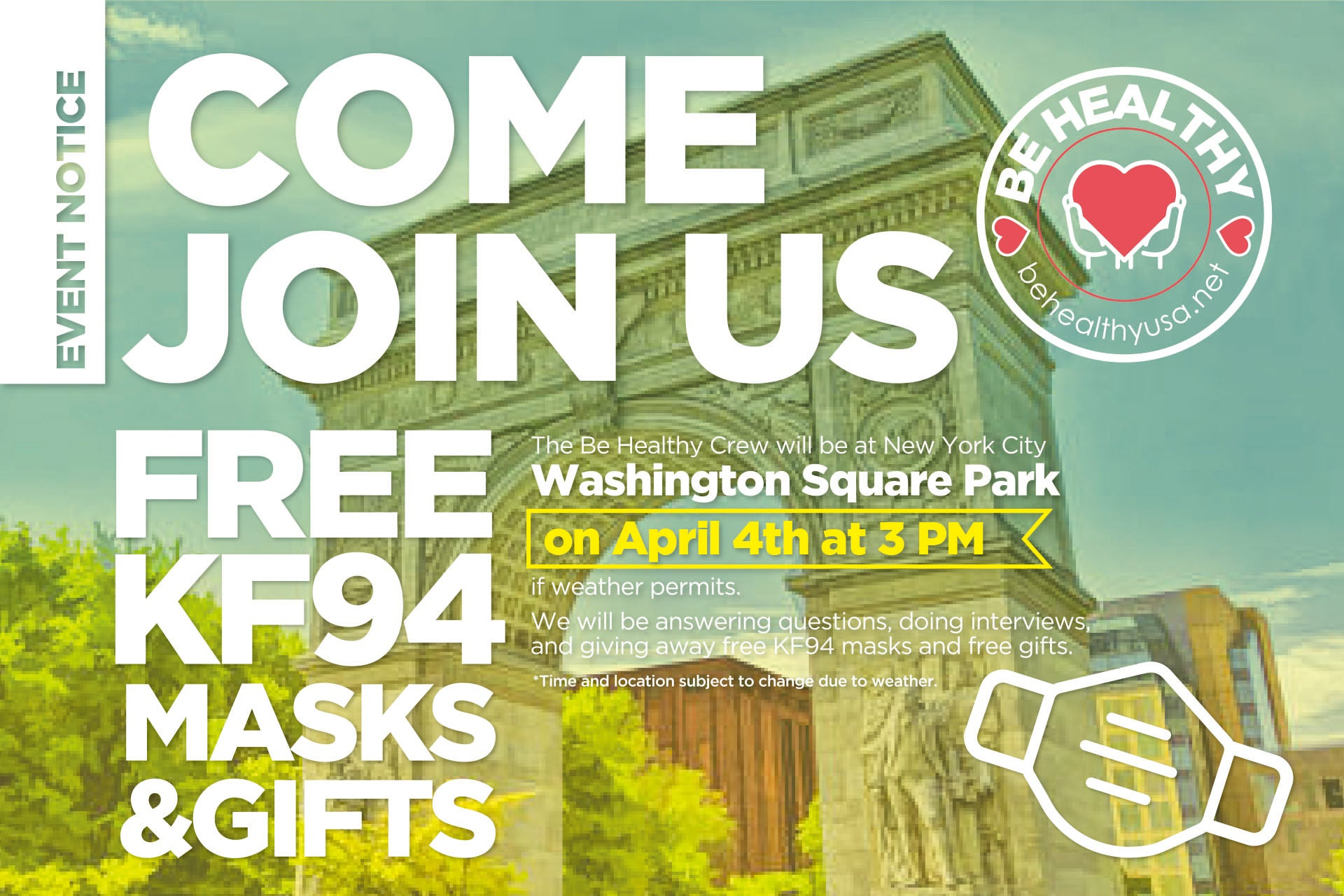 Event Notice - Free KF94 Masks & Gifts