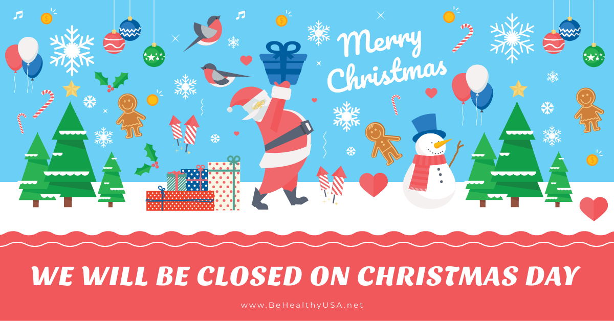 We are closed on Christmas Day