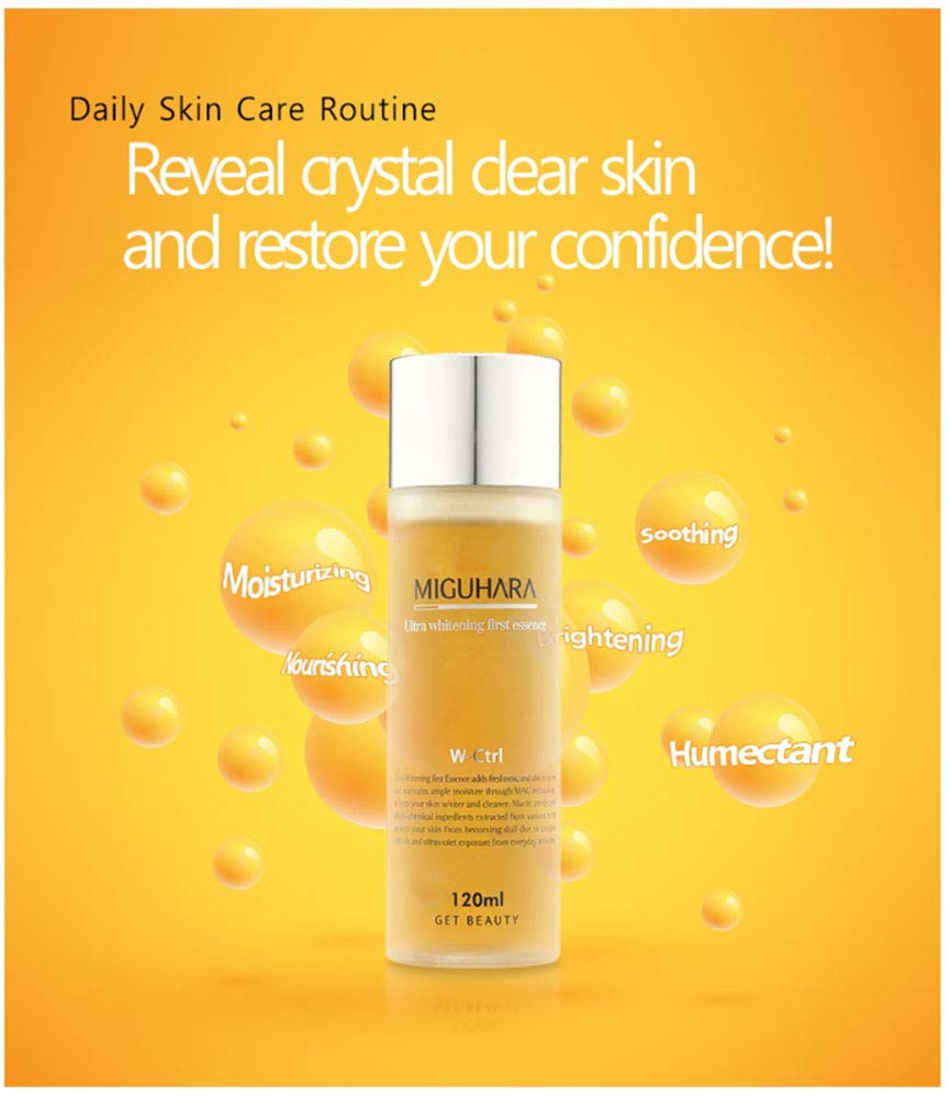 MIGUHARA Ultra Whitening First Essence 120ml - Be Healthy USA