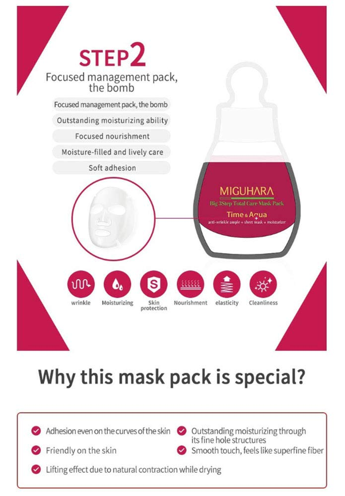 MIGUHARA Big3 Step Anti-wrinkle Mask Pack (1.7ml + 23ml + 1.7ml) 10 Pack