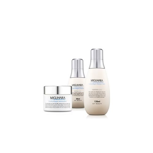 MIGUHARA Best 3 Moisturizing Line Set - Hyalucollagen Toner + Essence & Moisturizing Cream