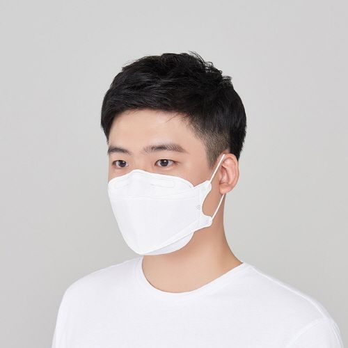 KOREA-MASK KF94 Large - White (3D) - Be Healthy USA