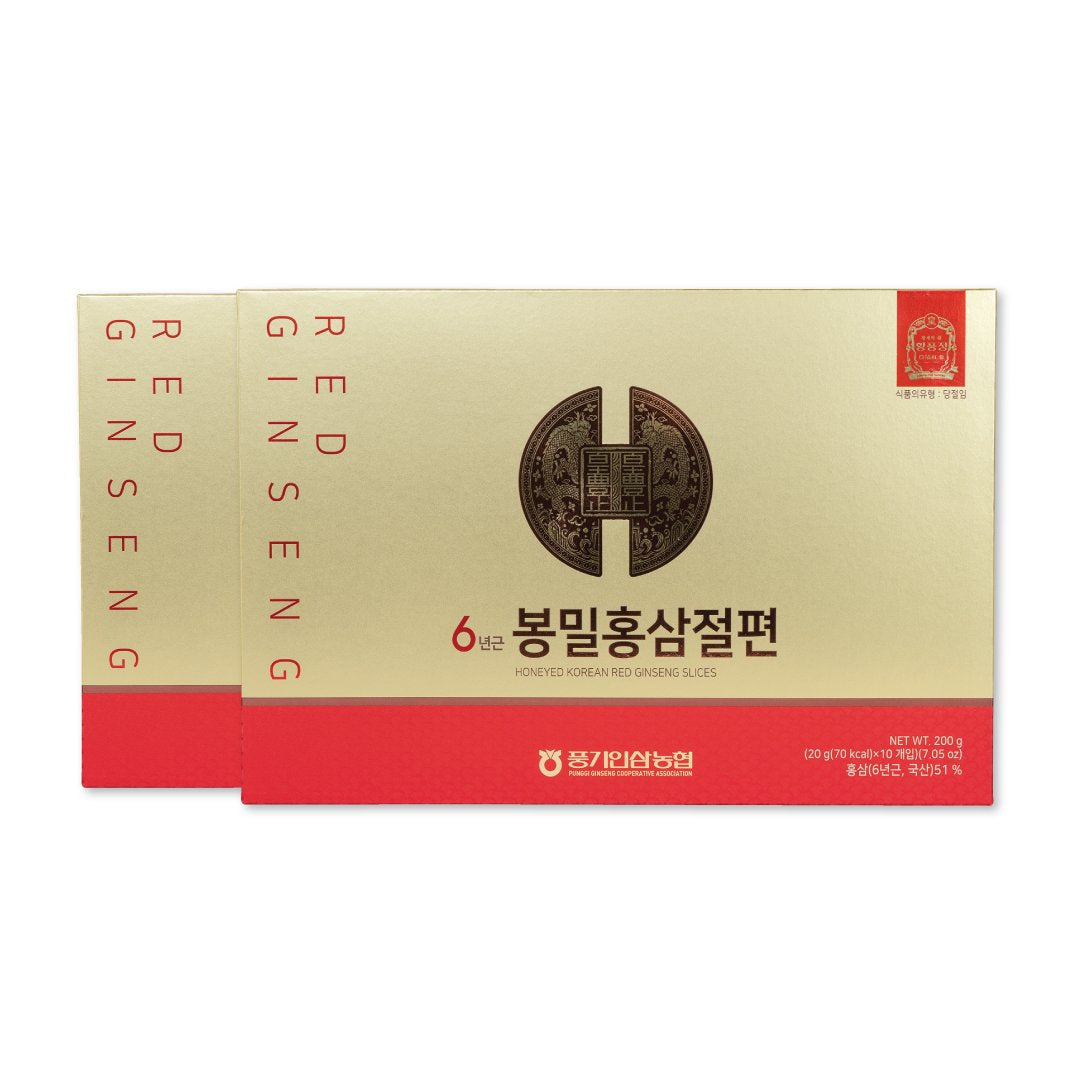 6 Years Punggi Korean Red Ginseng Honeyed Slices 200g (20g / 10PK) - Be Healthy