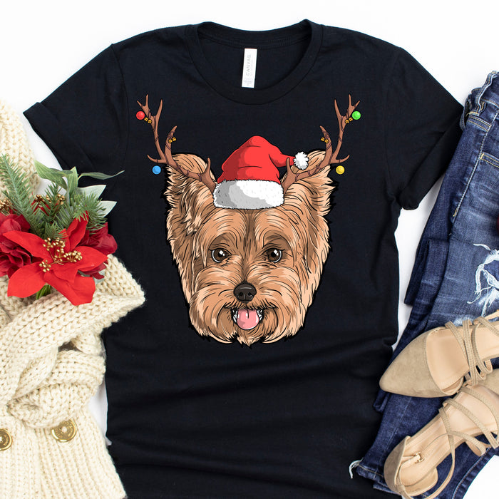Yorkshire Terrier Christmas Hat Graphic Unisex T Shirt, Sweatshirt, Hoodie Size S - 5XL