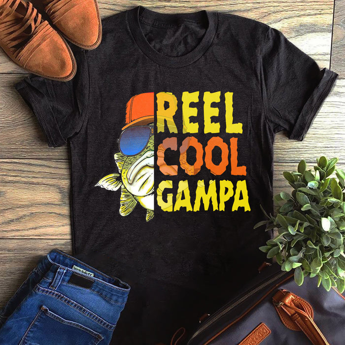 Fishing Reel Cool Grandpa Gampa Father's Day Gift, Gift For Dad Graphic Unisex T Shirt, Sweatshirt, Hoodie Size S - 5XL
