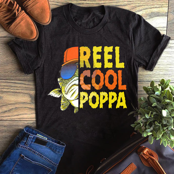Fishing Reel Cool Grandpa Poppa Father's Day Gift, Gift For Dad Graphic Unisex T Shirt, Sweatshirt, Hoodie Size S - 5XL