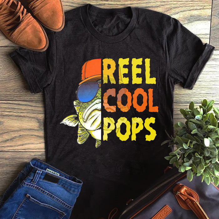 Fishing Reel Cool Grandpa Pops Father's Day Gift, Gift For Dad Graphic Unisex T Shirt, Sweatshirt, Hoodie Size S - 5XL