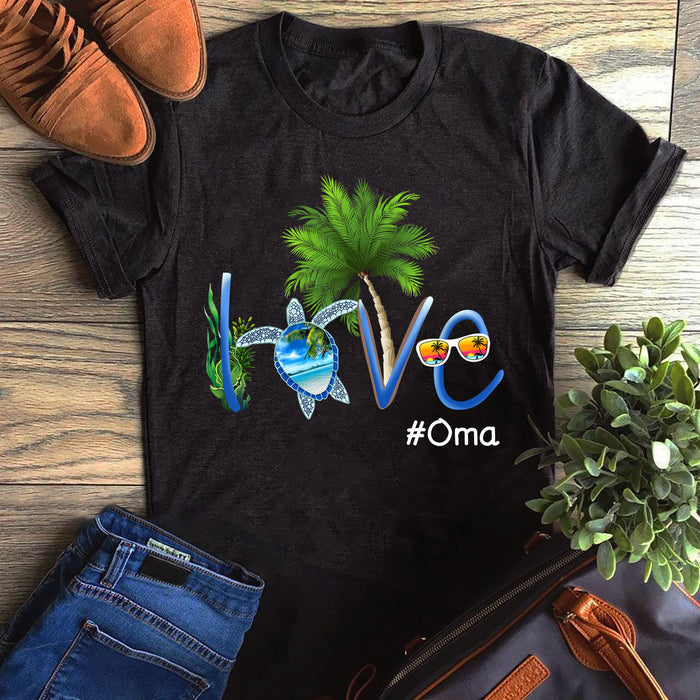 Summer Coconut Turtle Love Grandmalife Oma Mother's Day Gift, Gift For Mom Graphic Unisex T Shirt, Sweatshirt, Hoodie Size S - 5XL