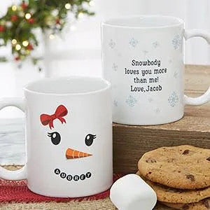 Christmas Snowbody Loves You More Than Me 11Oz, 15Oz Ceramic Mug