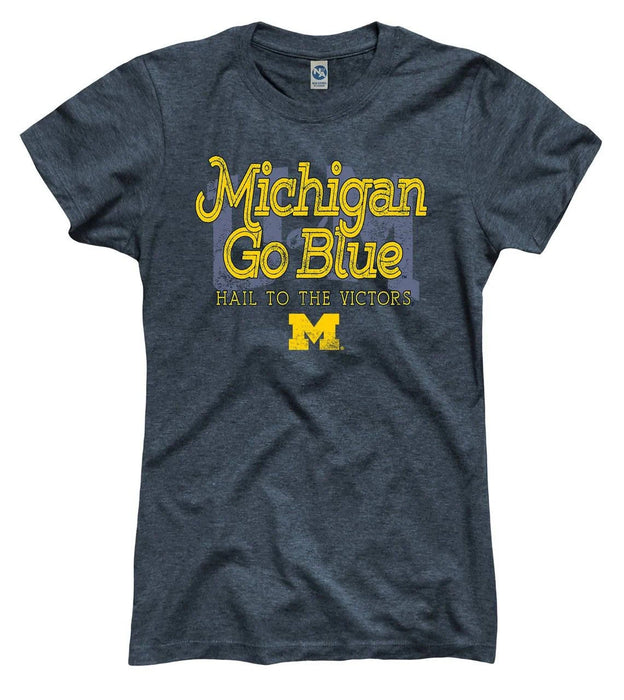 Michigan Go Blue Hail To The Victors Graphic Unisex T Shirt, Sweatshirt, Hoodie Size S - 5XL