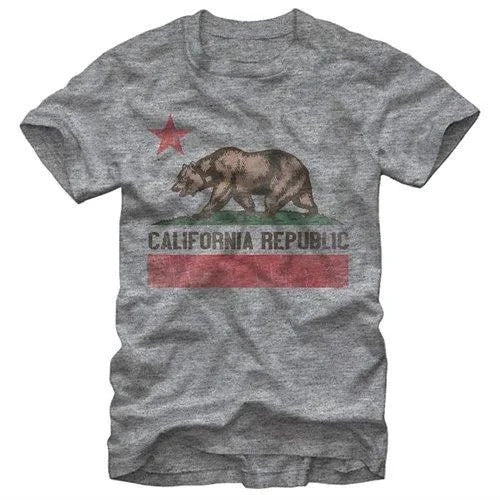 California Republic Bear Graphic Unisex T Shirt, Sweatshirt, Hoodie Size S - 5XL