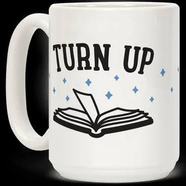 Reader Turn Up Book White 11Oz, 15Oz Ceramic Mug