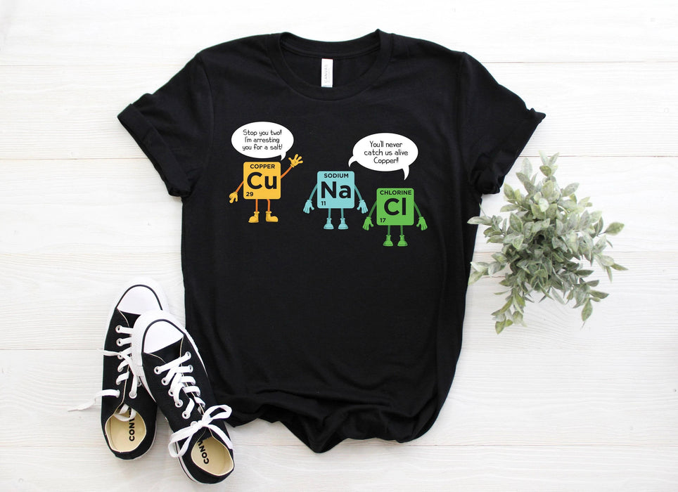 Science Cu Na Cl Graphic Unisex T Shirt, Sweatshirt, Hoodie Size S - 5XL