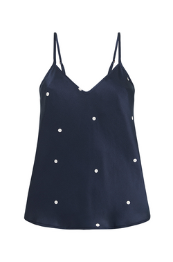 BIAS CUT CAMI NAVY SPOT