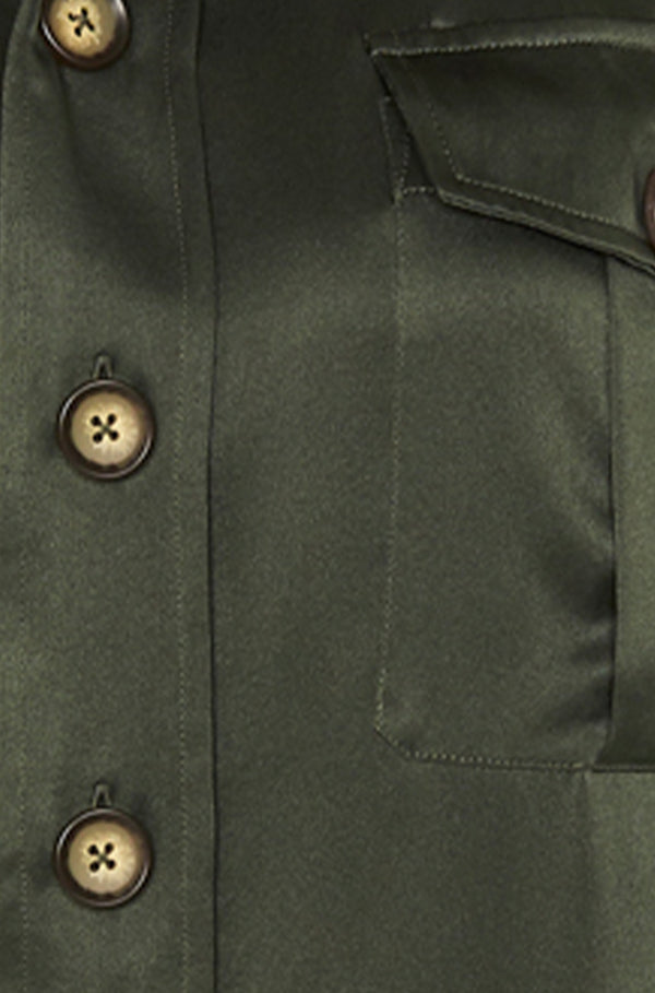 ALMOST A MILITARY JACKET HUNTER GREEN