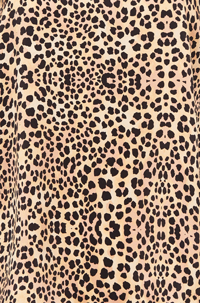 90S SILK SLIP DRESS LEOPARD