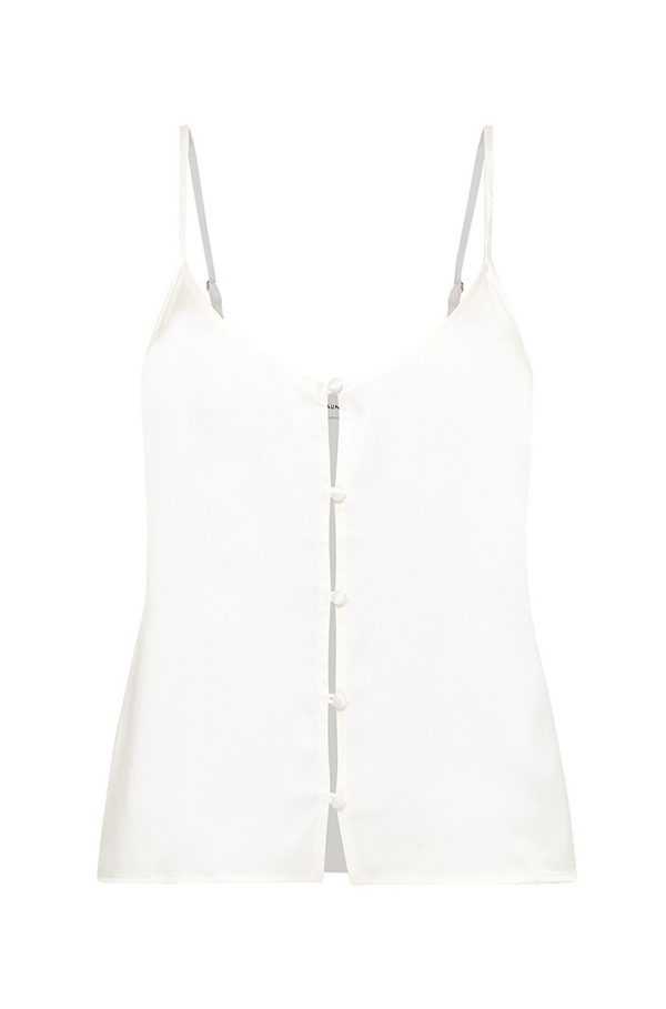 BUTTON CAMI WHITE